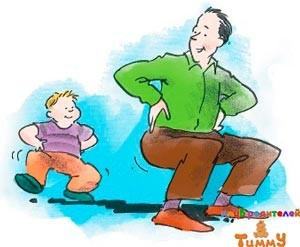 Развитие ребенка в 3 года: ходим, как зверята