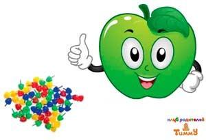 Развитие ребенка в 2 года: черепаха из яблока