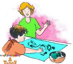 Развитие ребенка 3,5 года: рисунок пудингом