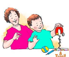 Развитие ребенка 4 года: магнитная охота