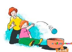 Развитие ребенка 4 года: мяч в миске