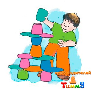 Развитие ребенка 4,5 года: башня из тарелок