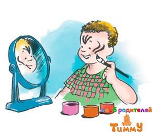 Развитие ребенка 4,5 года: разрисованное лицо