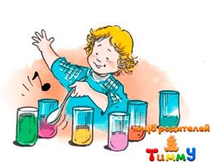 Развитие ребенка 4,5 года: водяная музыка