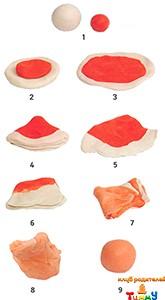 Схема смешивания пластилина