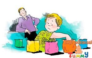 Развитие ребенка 5,5 лет: угадай, что в пакете