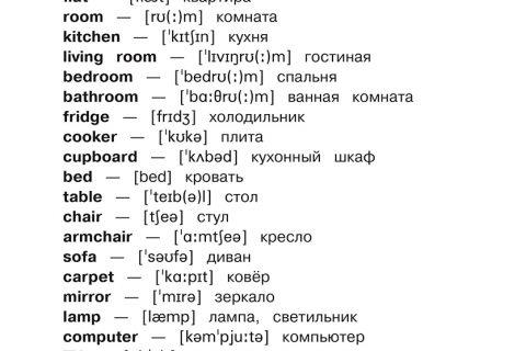 Все словарные слова английского языка 1 - 4 класс (рис. 2)