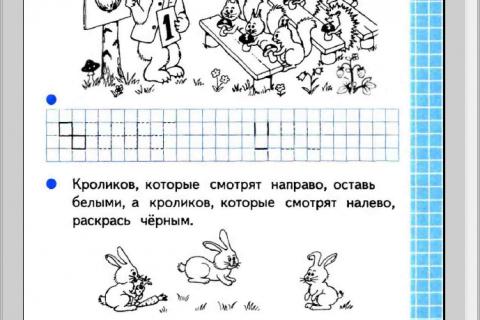 Тетрадь по математике №1 для 1 класса начальной школы (рис. 1)