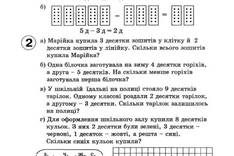 Математика для 1 класса: 4 части, на украинском языке (рис. 1)
