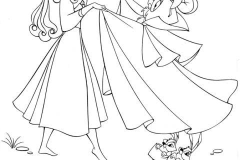Принцессы Диснея. Раскраска (рис. 2)