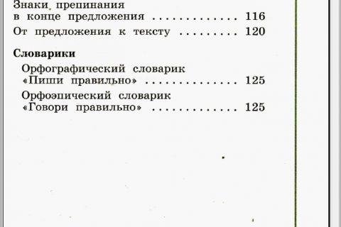 Русский язык. 1 класс (оглавление 2)