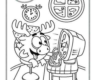 Игра - раскраска со Смешариками Вредно или Полезно 30