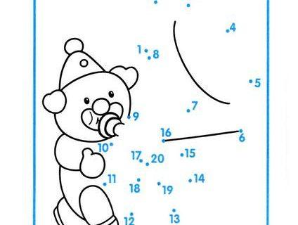 Нарисуй по номерам и раскрась. Считаем до 20 1