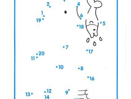 Нарисуй по номерам и раскрась. Считаем до 20 2