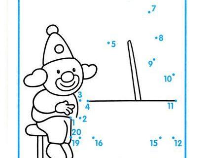 Нарисуй по номерам и раскрась. Считаем до 20 4