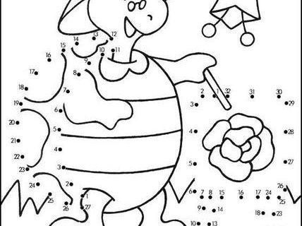 Нарисуй по номерам (развивающие картинки) 3