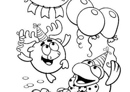 Поздравительные открытки - раскраски для детей со Смешариками 4