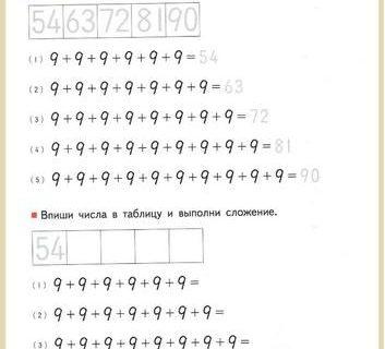 Учимся умножать вплоть до 10 на 10 - упражнения для детей 6-8 лет 50