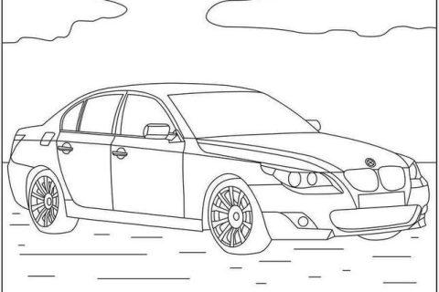 Картинки - раскраски с автомобилями BMW 1