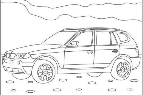 Картинки - раскраски с автомобилями BMW 2
