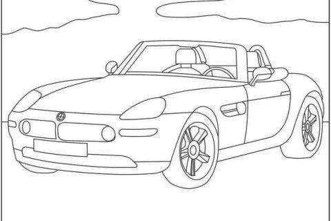 Картинки - раскраски с автомобилями BMW 3