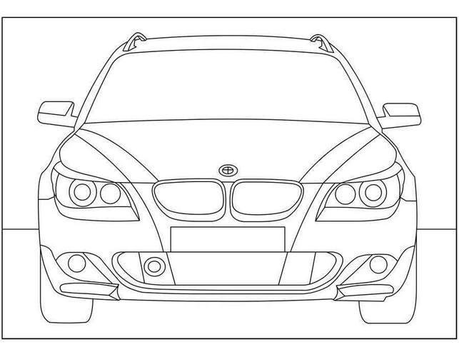 Картинки - раскраски с автомобилями BMW 4