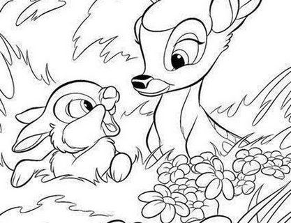 Картинки - раскраски с милыми животными 5