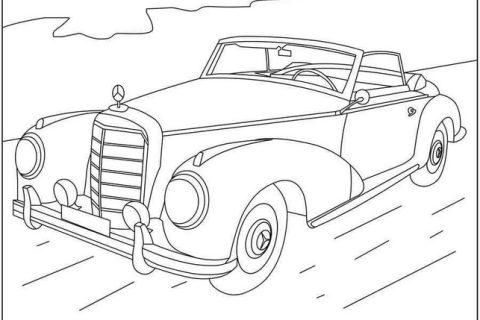 Раскраска с автомобилями MERCEDES 10