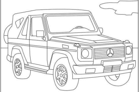 Раскраска с автомобилями MERCEDES 15