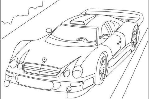 Раскраска с автомобилями MERCEDES 8