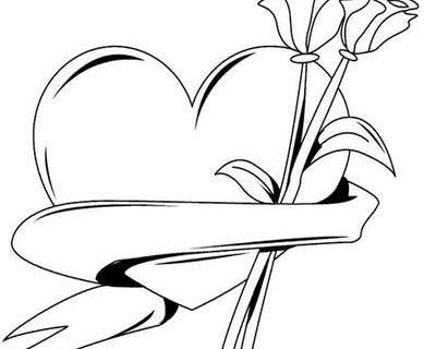 Сердечки - раскраска для девочек 1