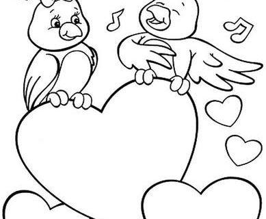 Сердечки - раскраска для девочек 2
