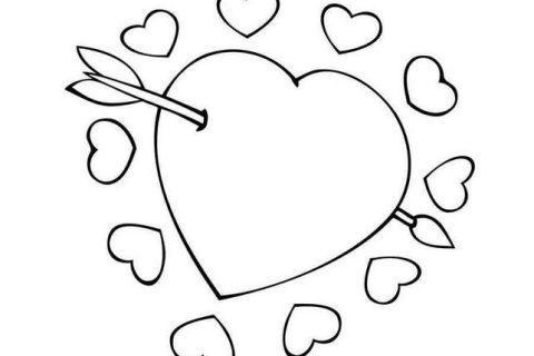 Сердечки - раскраска для девочек 3