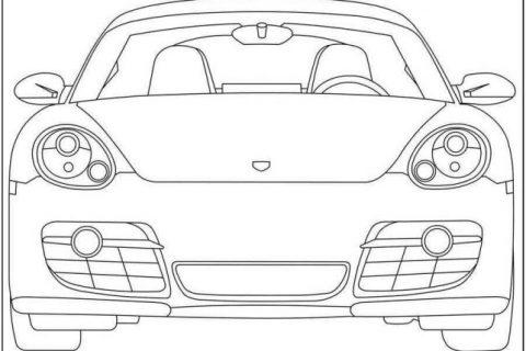 Раскраска с автомобилями Porsche 3