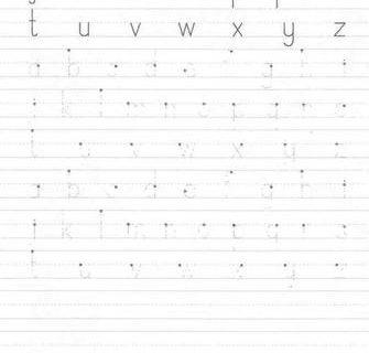 Пропись буквы английского языка 15