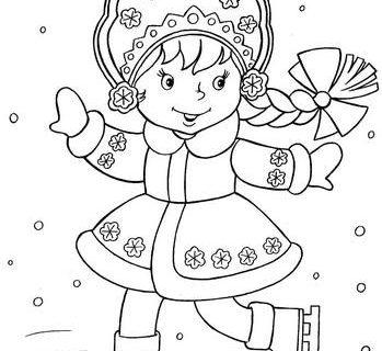 Дед Мороз и Новый Год раскраски 15