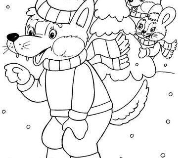 Дед Мороз и Новый Год раскраски 8