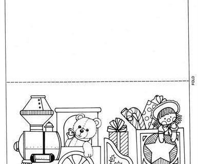 Новогодние открытки - раскраски 22