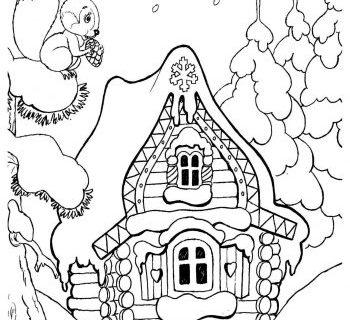 Раскраска про Новый Год и приключение Деда Мороза 1