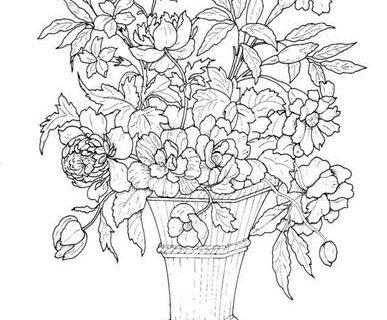 Цветы - сборник раскрасок_1