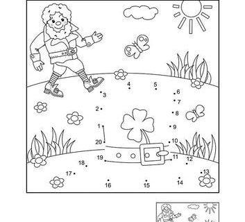Нарисуй по цифрам и раскрась - развивающие картинки 1