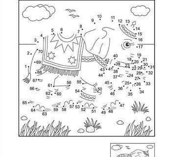 Нарисуй по цифрам и раскрась - развивающие картинки 3